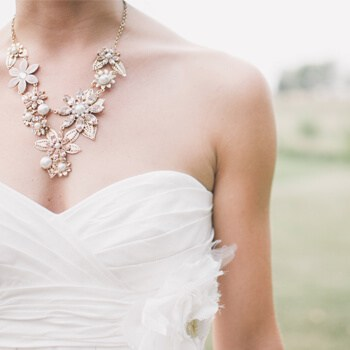Bride with beautiful necklace